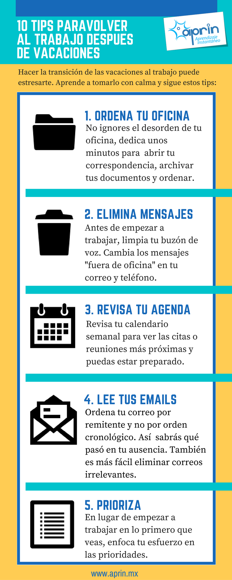 10 tips para volver al trabajo despu s de las vacaciones for Trabajar en oficinas de mercadona